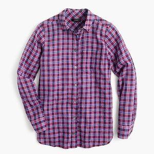 Boy shirt in purple twilight plaid